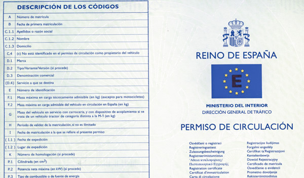 Permiso de Circulación de España