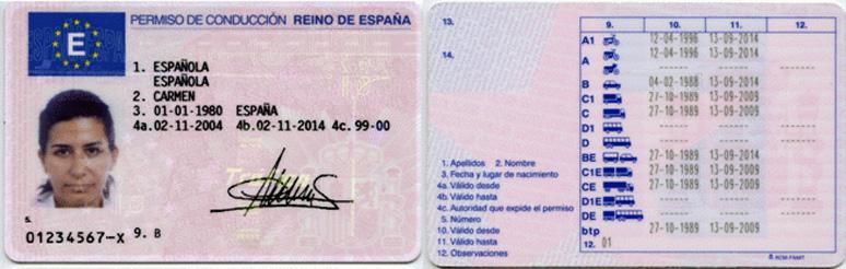 Permiso de conducción de España