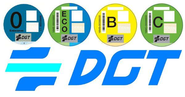 Distintivos ambientales según la clasificación de la DGT de vehículos según sus emisiones contaminantes