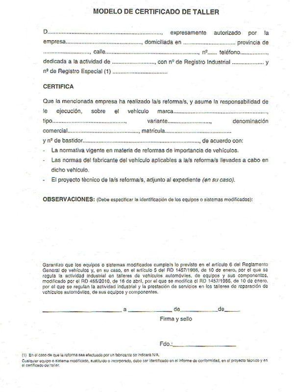 El Certificado De Taller Para Homologaciones En La Itv Itv