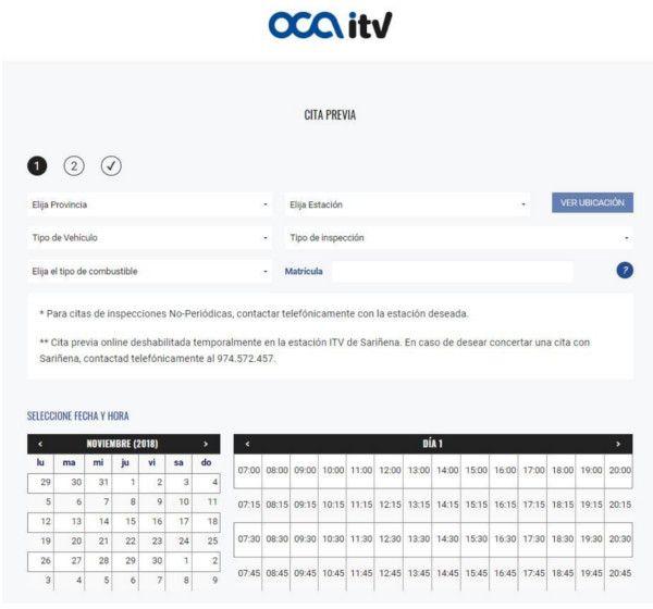 Cita previa con OCA ITV
