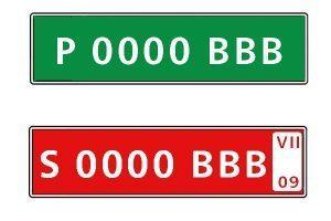 Las matrículas provisionales verdes y rojas: ¿Qué significan?