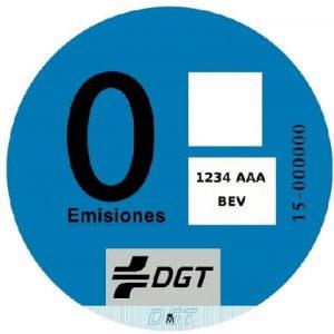 Pegatina DGT cero emisiones