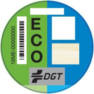 Pegatina DGT vehículos ECO