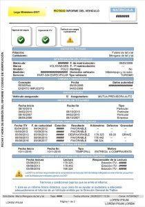 Informe de vehículo gratuito de la DGT