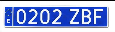 matrícula azul de taxi